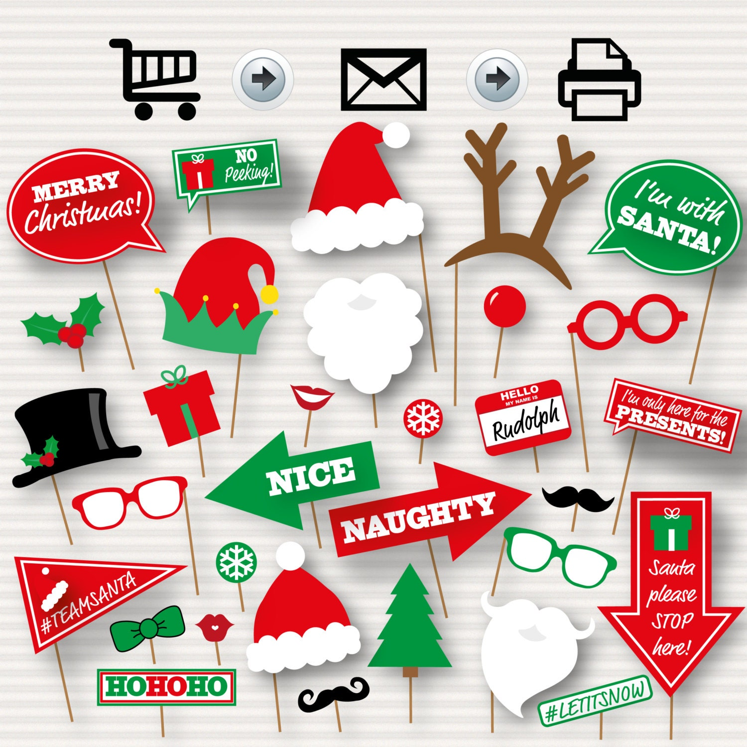 Agile image in christmas photo booth props printable