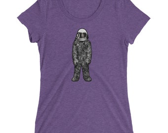 Space Squatch Ladies' short sleeve t-shirt