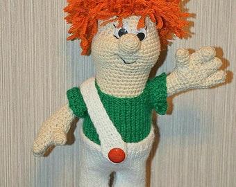 Karlsson/Handmade Doll/ Crochet Doll/  Amigurumi Doll/ Knitted Doll