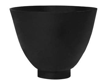"5"" x 6"" Rubber Mixing Bowl for Lost Wax Investment Dental Casting - CAST-0093"