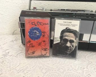 THE CURE, Wish & Standing on a Beach, vintage cassette tape, music cassette