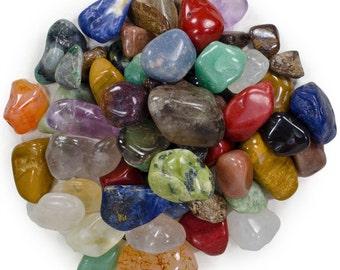 "Natural Tumbled Stone Mix - 25 Pcs - Small Size - 0.75"" to 1.25"" Avg."