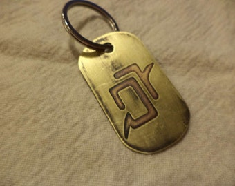 Final Fantasy XIV Inspired Etched Brass Dogtag