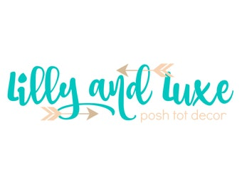 Arrow Chic Shop Logo - Branding Design - Boutique Logo - Digital Logo - Watermark - Bowtique - Posh Design - Photography Logo - JPG PNG