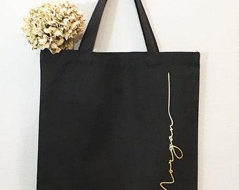 Canvas tote bag Bridesmaids Gifts Bridal Party Gifts Maid of Honor Gifts