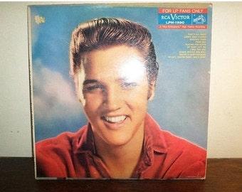 Vintage 1959 Vinyl LP Record Elvis Presley For LP Fan Only Very Good Condition Original LPM-1990 10629