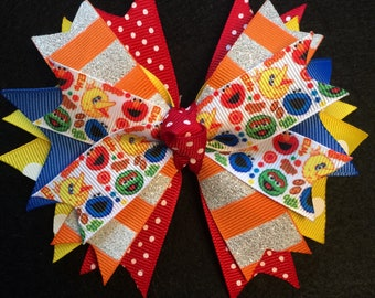 Sesame Street Stacked Boutique Hairbow