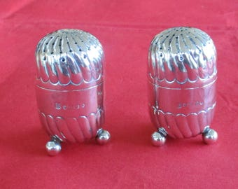 Antique Sterling Silver Pair of Superb Quality Pepperettes 1883