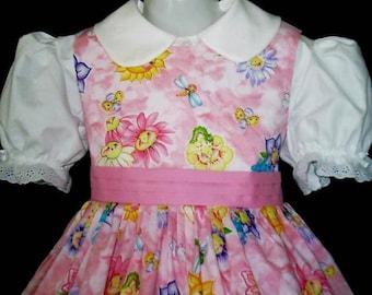 NEW Handmade Daisy Kingdom Sunny Friends Pink Dress Custom Size