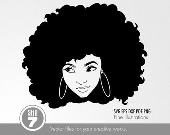 Afro Style #8 svg dxf eps pdf png