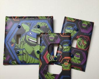 Teenage Mutant Ninja Turtles,light plate cover,light switch plate, outlet cover, outlet plate, home decor, wall art