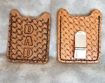 Dad's Leather Money Clip