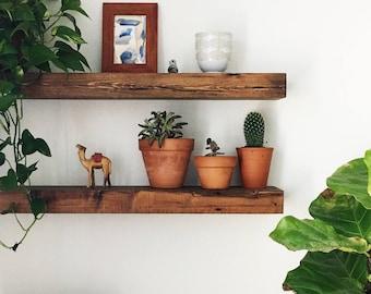 Reclaimed Wood Floating Shelf, Floating Shelf, Wall Shelves, Wall Shelf, Shelf, Home Decor, Floating Shelf Set, Wooden Shelves, Modern Home