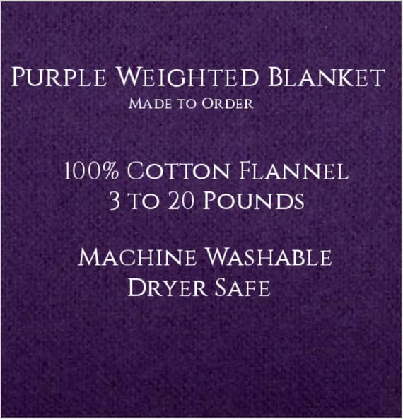 Solid Color, Weighted Blanket, Purple, Up to Twin Size 3 to 20 Pounds.  Calming, Heavy Blanket, SPD, Autism, Weighted Blanket.
