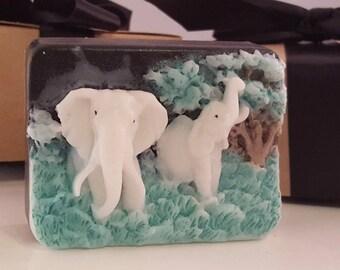Elephant soap bar - stocking stuffers for women -stocking stuffer for men - gift for guys - stocking stuffer for teen - gift for women