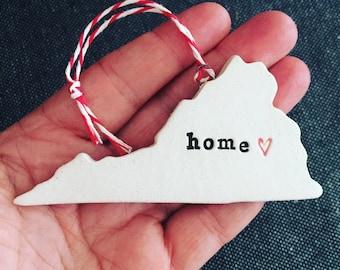 Virginia Pottery Ornament - HOME or RVA Options