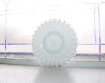 Fenton Glass Silver Crest Ashtray Vintage 1950s