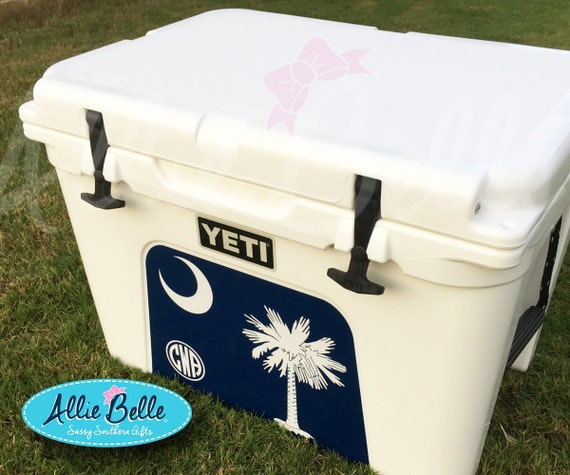Yeti tundra cooler wrap decal custom yeti cooler decal 3m wrap decal personalized or monogrammed tundra 354550 south carolina flag from
