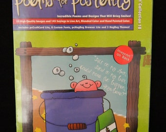 Poems for Posterity Clip Art Software Provo Craft Hugware Scrapbook Card Making New