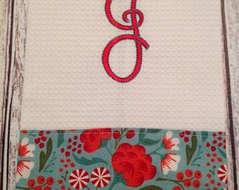 Christmas Monogram Towel