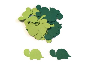 100 Assorted Turtle Confetti, Die Cut Turtle, Baby Shower, Turtle Theme Party, Turtle Décor, Turtle birthday party