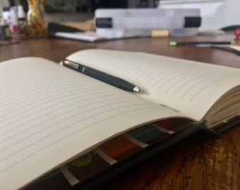 Leather hardcover lined journal