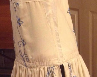 Vintage tablecloth skirt