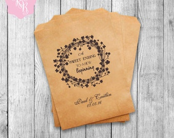 Wedding Favor Bags Wedding Favors Personalized Party Favor Bags  Wedding Gift Idea Custom Wedding Favors Set of 20 Style 006
