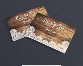 Business Card Designs - Printable Business Card Design - Premade - Allison