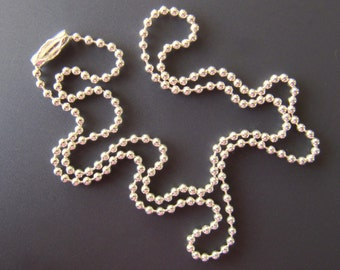 Sterling Silver Ball Chain Necklace and Connector - Choose your length