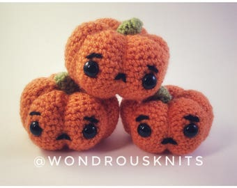 sad hallowe'en pumpkin friend (made to order)
