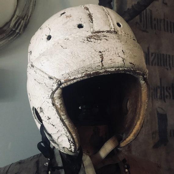 Vintage Football Helmet, Soccer,  Antique football,industrial, Industrial decor
