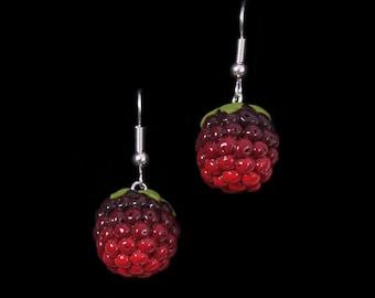Summer Blackberry (Bramble) Earrings