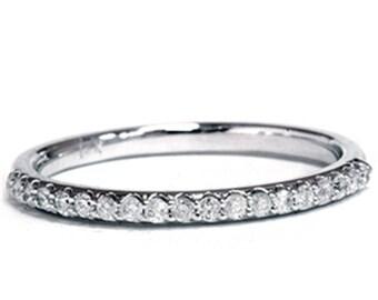 Diamond Wedding Ring 14K White Gold