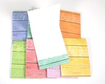 Matchbook Notepads Matchbook Favors in  Rainbow Woodgrain Set of 16
