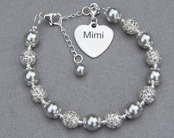 Mimi Gift, Mimi Charm Bracelet, Grandma Jewelry, Mothers Day Gift, Grandmother Present, Mimi birthday, Grandma Gift
