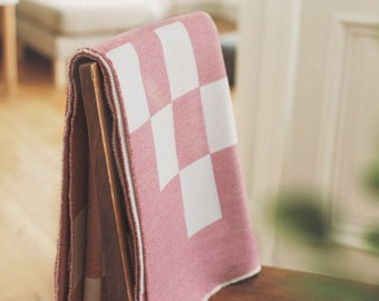 Merino Lambswool Bloc Blanket - Prima