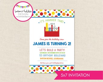 Tool Birthday, Tool Birthday Invitation, Tool Printables, Tool Birthday Decorations, Boy Birthday, Lauren Haddox Designs