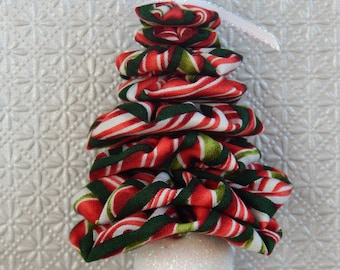 Christmas Candy Peppermint Stripe Yo Yo Ornament