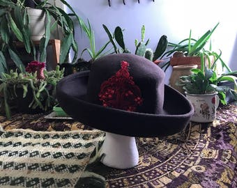 vintage flapper hat w added decor