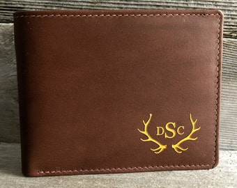 hunting gifts • deer hunting • deer hunter • gift for hunter • deer antlers • gift for dad • outdoors • men's wallet • ELK2/3  Toffee 7751 >