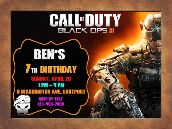 Call of duty invitation you print invitation call of duty call of duty invitation you print invitation call of duty birthday call of duty themed invitation call of duty birthday party invite filmwisefo Image collections