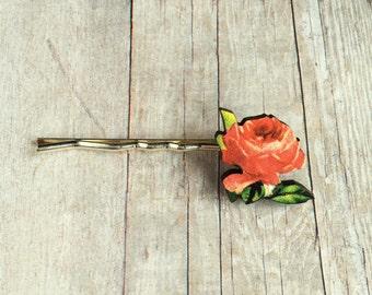 Rose Hair Accessory Flower Barrette Pin