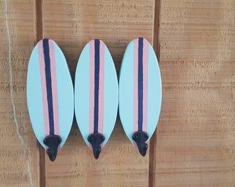 Surf Board Rack/ Surf Board Towel Rack / Surf Decor / Coastal  Decor / Beach Decor / Surf Board Decor / Surfboard Art / Surfboard / Ocean