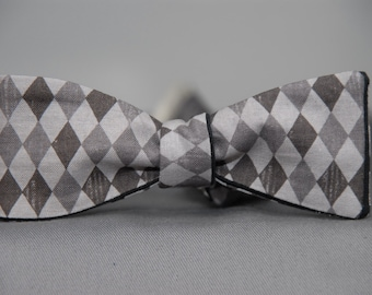 Black Gradient Diamonds  Bow tie