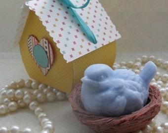 Blue Bird in Nest Soap