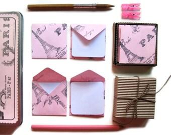 Pink Paris Envelopes - Mini Stationery Set