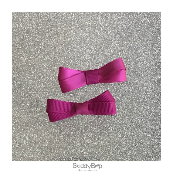 Satin and Grosgrain Pink Mini Bow