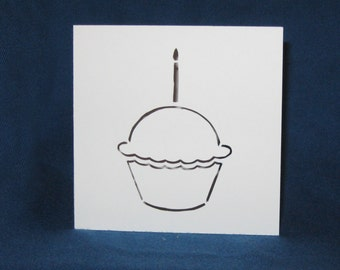 Cupcake Card, Happy Birthday, Hand Cut Card
