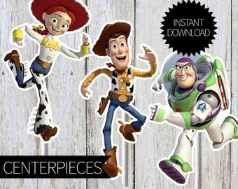 Toy Story Birthday Party Printables Characters Centerpieces- Instant Download | Disney Toy Story| Andy's Room| Centerpieces